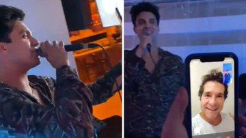 O artista reuniu alguns amigos e fez questão de cantar canção da dupla do sertanejo com João Paulo; confira - Reprodução/ Instagram