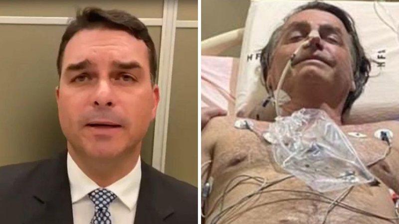 """Filho revela que Bolsonaro foi intubado na UTI para evitar broncoaspiração: """"Muito líquido"""""""