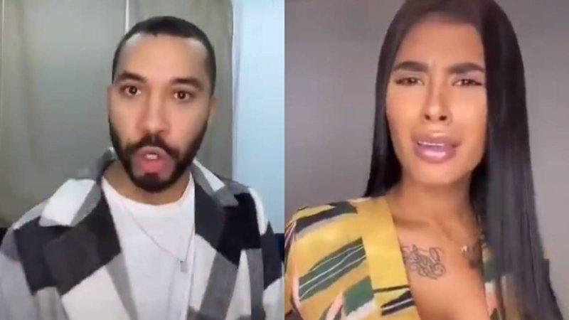 """Ex-BBBs Gilberto Nogueira e Pocah divertem a web ao recriarem briga memorável: """"O que é basculho?"""""""