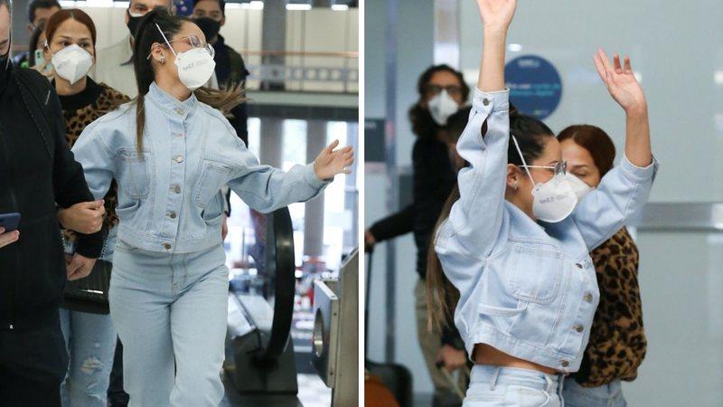Campeã do BBB21, Juliette desembarca acompanhada, dá show de simpatia e é ovacionada por fãs em aeroporto