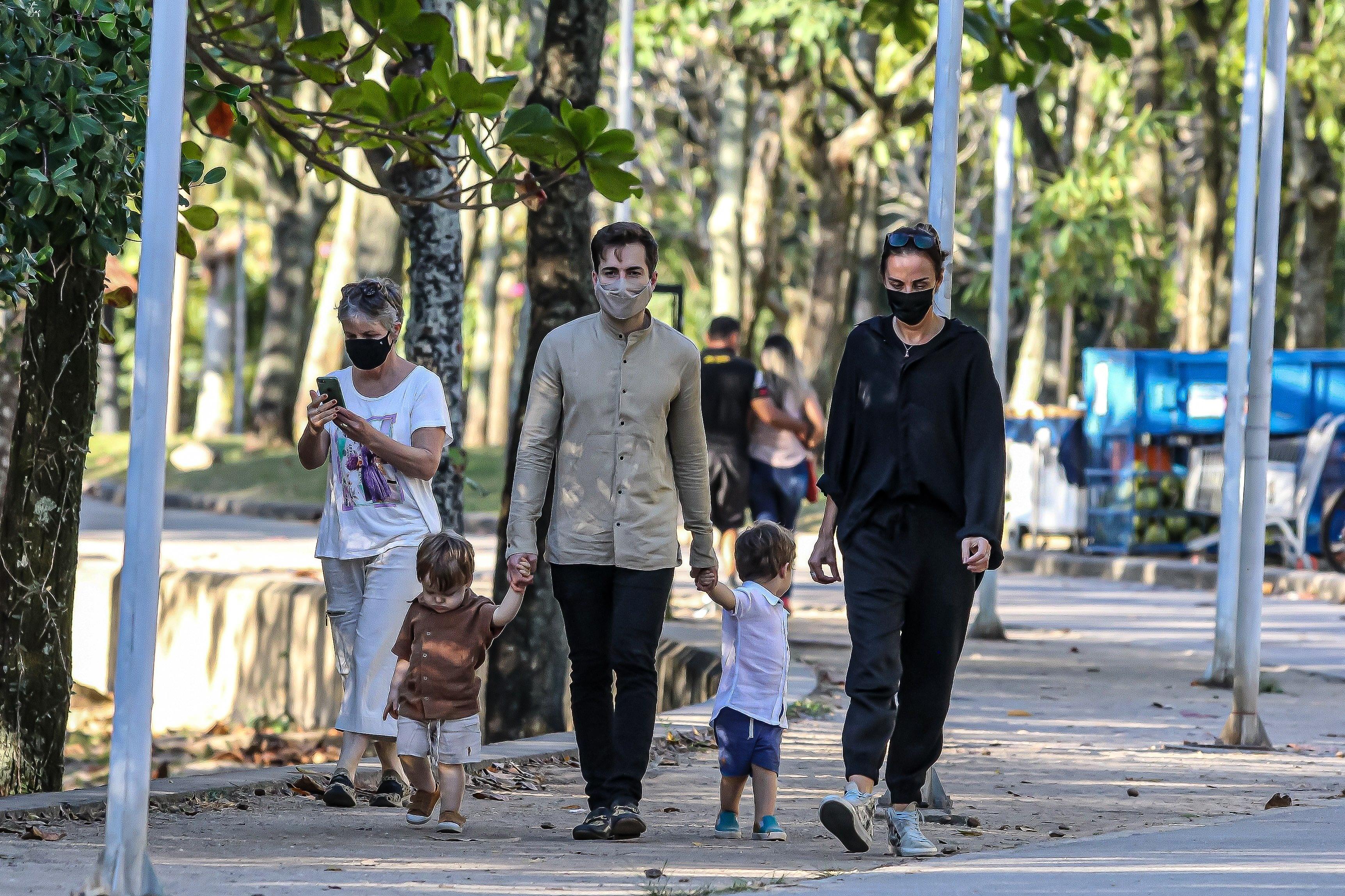 Thales Bretas, Susana Garcia e filhos de Paulo Gustavo