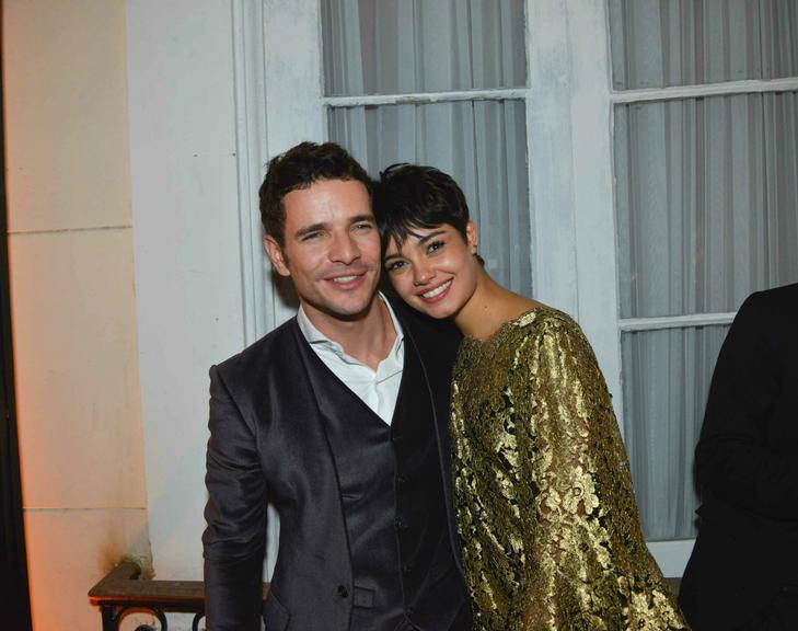 Sophie Charlotte e Daniel de Oliveira na coletiva de 'O Rebu'