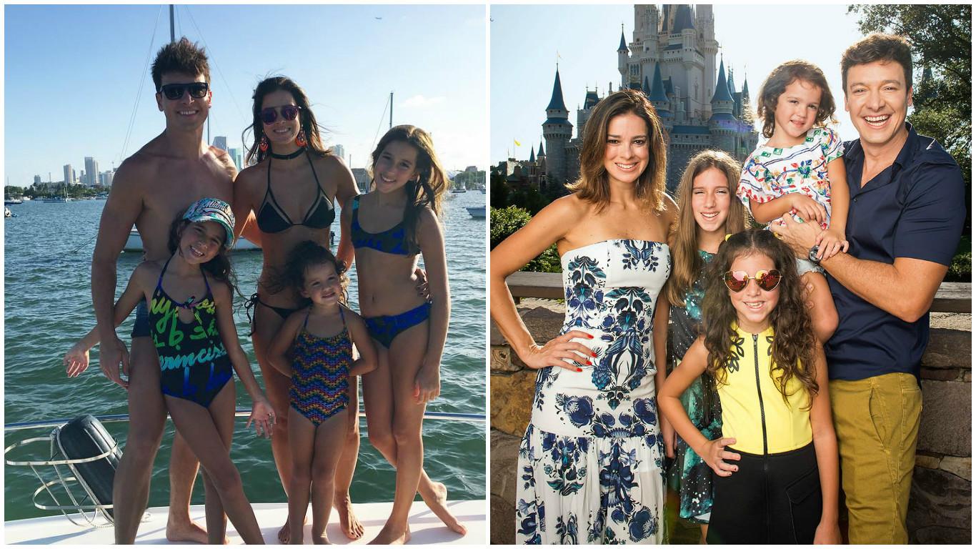 Rodrigo Faro em férias com a família