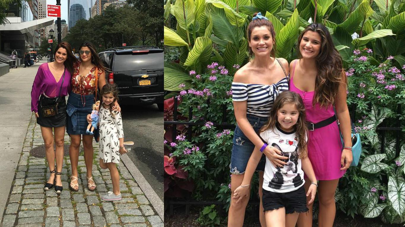Flavia Alessandra passeia com as filhas em Nova York