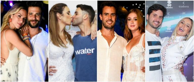 Casais no Ano Novo pelo Brasil
