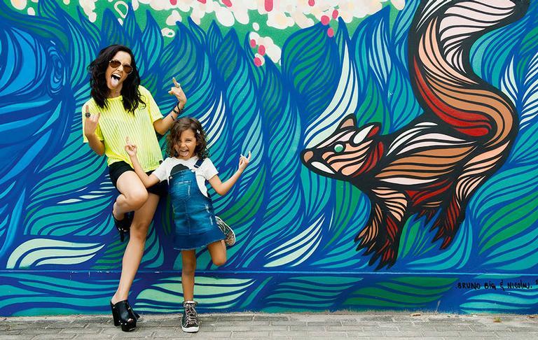 Maytê Piragibe e a filha Violeta