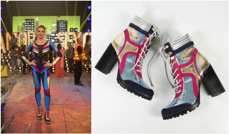 Fernanda Lima usa botas exclusivas no Amor & Sexo