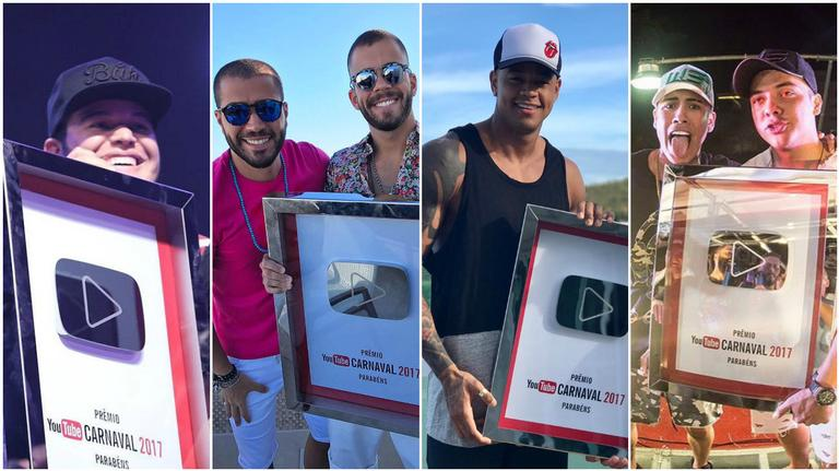Youtube premia hits do Carnaval 2017