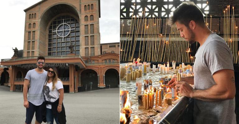 Rodrigo Godoy e Preta Gil visitam a Catedral Basílica de Nossa Senhora Aparecida