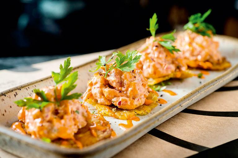 O prato é uma sugestão do chef peruano Marco Espizona, do Lima Restobar