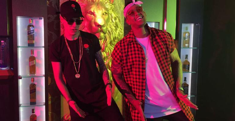 Léo Santana e MC Kevinho gravam clipe juntos