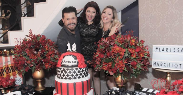 Marcos, Larissa Marchioto e Lu Marchioto