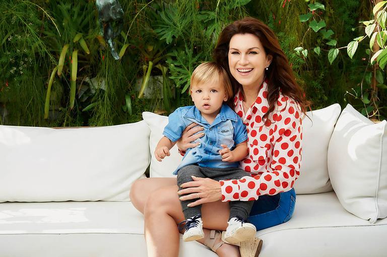 Adriana Garambone e o filho, Gael