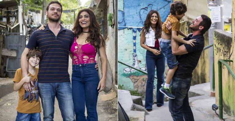 Bibi (Juliana Paes) sobe com Dedé (joão Bravo), Rubinho (Emilio Dantas) | <i>Crédito: Globo/Marilia Cabral