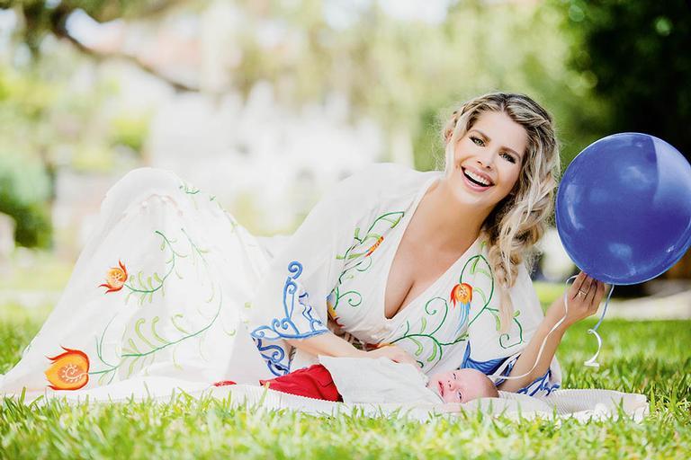 Karina Bacchi com Enrico no Brasil