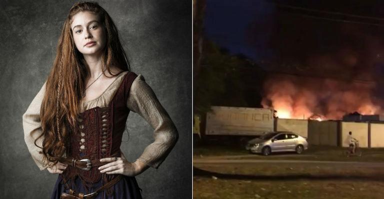 Galpão da novela 'Deus Salve o Rei' sofre incêndio | <i>Crédito: Globo/Cesar Alves