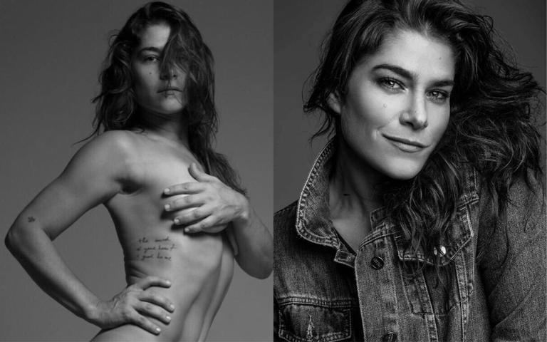 Pela primeira vez, a atriz publicou um registro sem roupa em seu Instagram