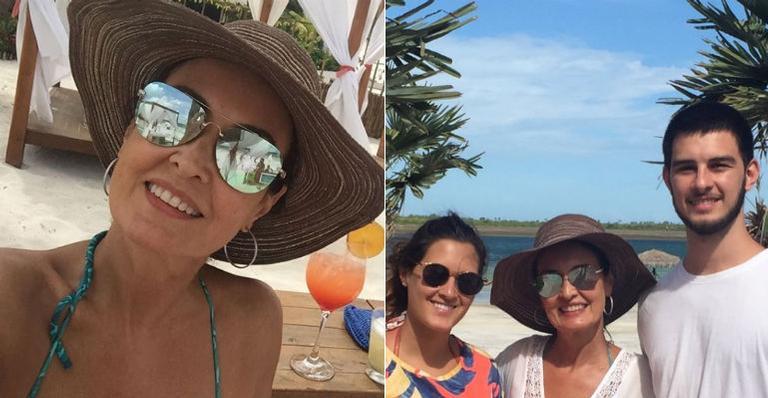 Fátima Bernardes curte férias ao lado dos filhos em Jericoacoara, no Ceará