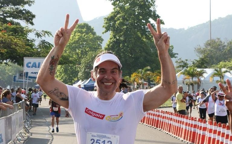 Leandro Hassum participa de corrida: