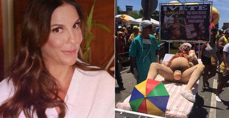 Fantasia de carnaval inspirada em Ivete Sangalo