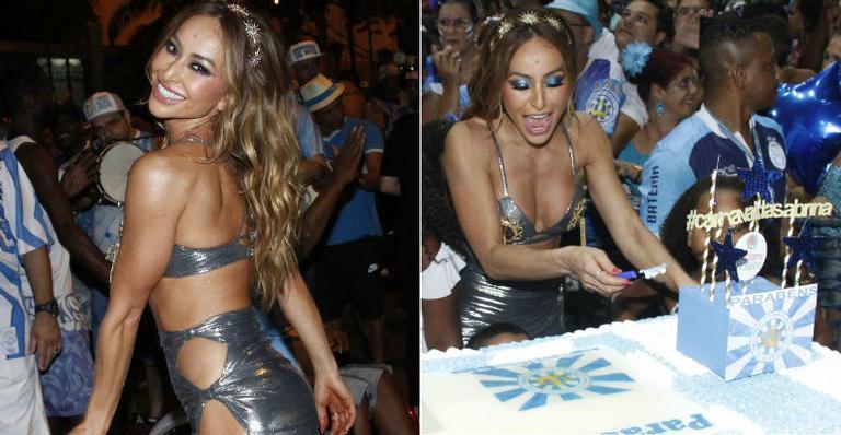 Sabrina Sato comemora seu aniversário na quadra da Unidos de Vila Isabel