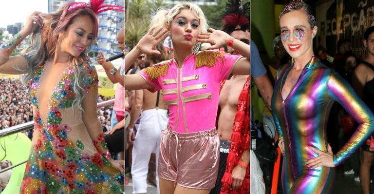 Brilho, penas e muita cor: veja os looks das famosas nas festas de pré-Carnaval