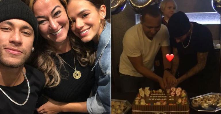Neymar comemora aniversário com bolinho discreto em família