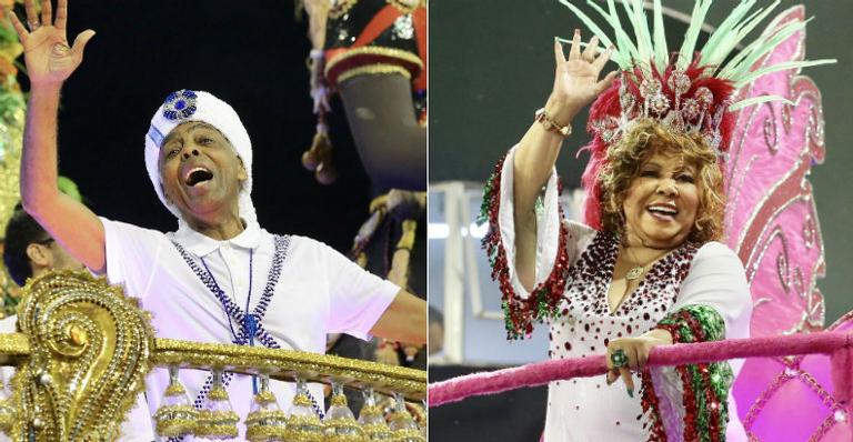 Gilberto Gil e Alcione são homenageados na avenida