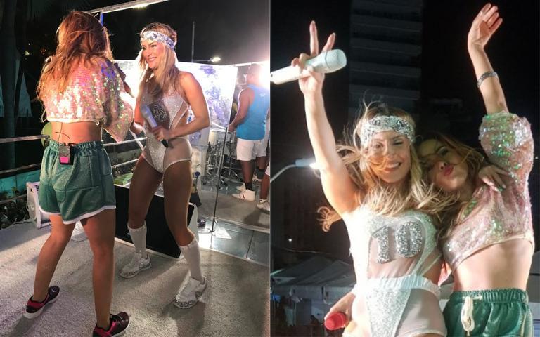 Claudia Leitte e Wanessa Camargo contagiam os foliões do Carnaval de Salvador