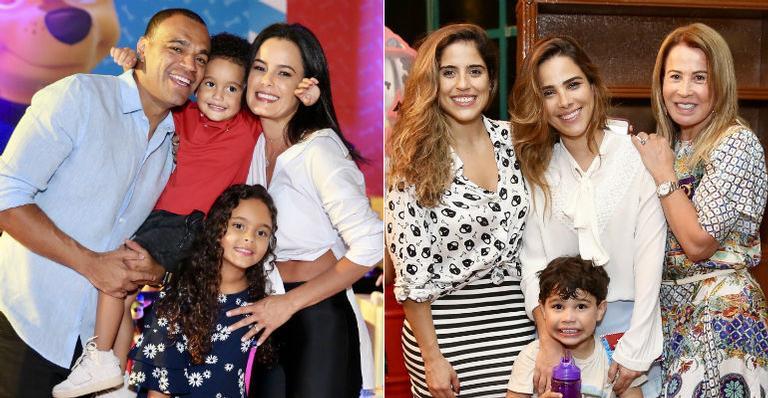 Camilla, Wanessa, Zilu e as gêmeas de Luciano prestigiaram a festinha infantil. Vem ver!