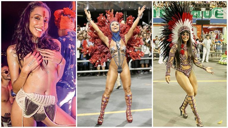 Em São Paulo, Viviane Araújo e Sabrina Sato arrasam. No Rio, Lea T ousa no Baile da Arara