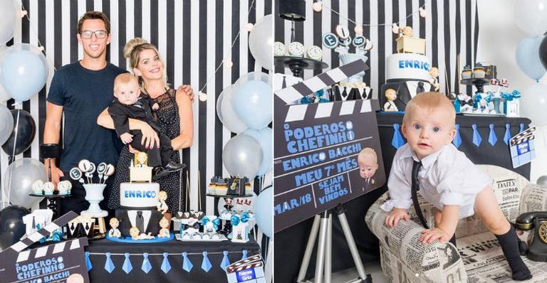 Karina Bacchi comemora 7 meses de Enrico