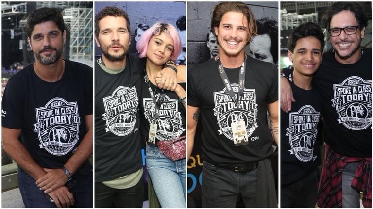Famosos curtem show do Pearl Jam, no Rio