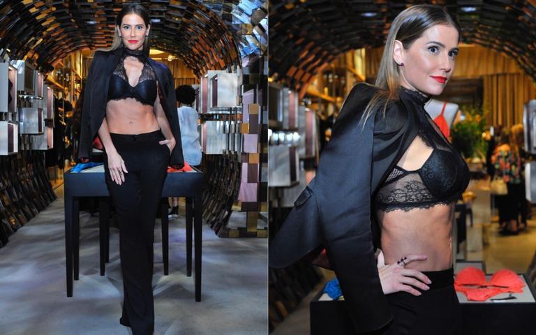Deborah Secco rouba a cena com sua boa forma em evento, em São Paulo