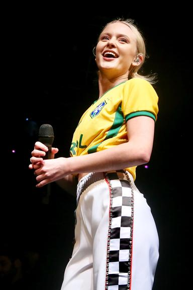 Ao lado do duo Oh Wonder, a cantora Sueca se apresentou na Audio, na capital paulistana, um dos eventos ligados ao Lollapalooza Brasil 2018