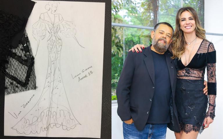 Vitor Zerbinato fará o vestido de Luciana Gimenez para amfAR