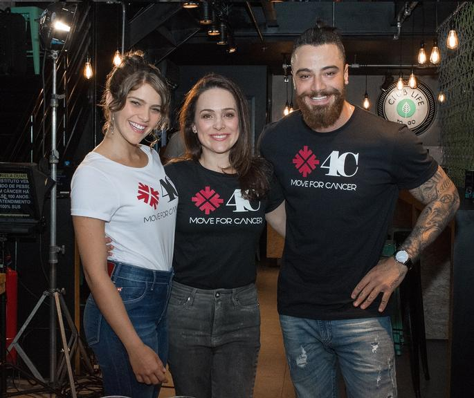 Isabela Santoni, Felipe Titto e Gabriela Duarte participam do Move4Cancer