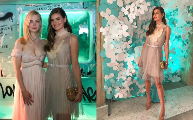 Camila Queiroz participa de evento em NY com atrizes de Hollywood