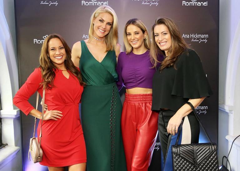 A apresentadora recebeu as colegas do Hoje em Dia (Record TV), Tici Pinheiro e Renata Alves, em São Paulo