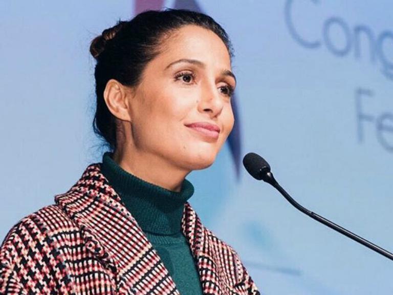 Diretora do Movimento Humanos Direitos e embaixadora nacional da ONU Mulher, a atriz fez presença no Conalife 2018