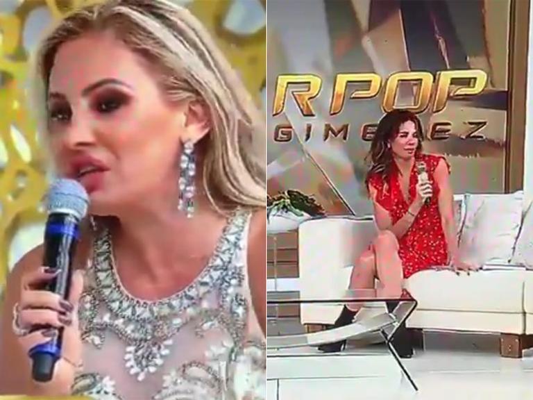 Ângela Bismarchi critica Luciana Gimenez ao vivo