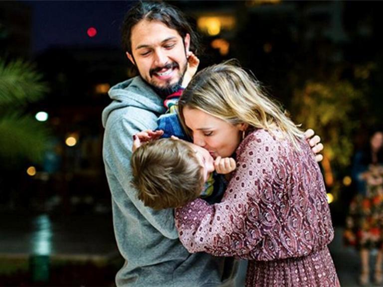 Romulo Estrela, Nilma e o filho, Theo