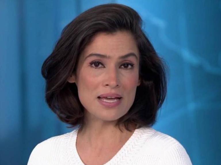 Renata Vasconcellos aparece deslumbrante sem maquiagem