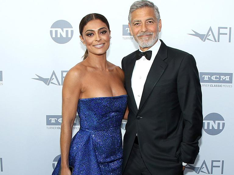 Juliana Paes encontra George Clooney em Los Angeles