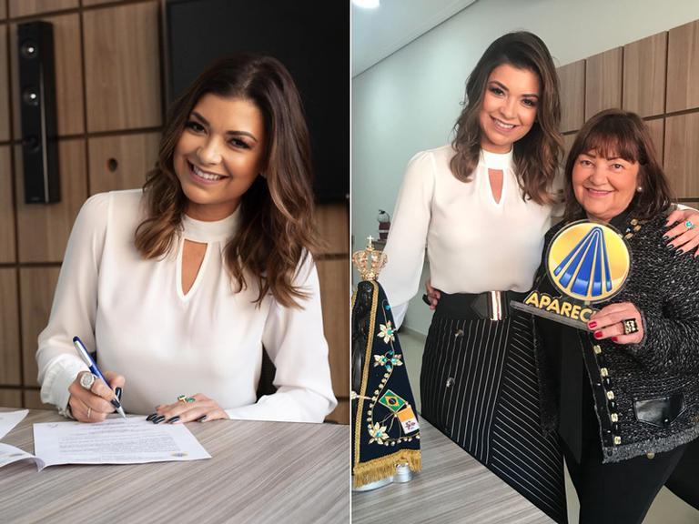 Amanda Françoso assina contrato com a TV Aparecida