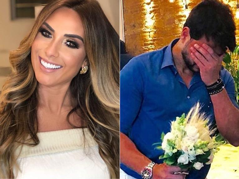 Noivo de Nicole Bahls refaz pedido de casamento