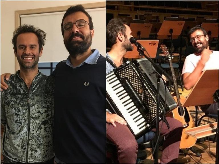 Marcelo Jeneci e Miguel Araújo cantam juntos pela primeira vez