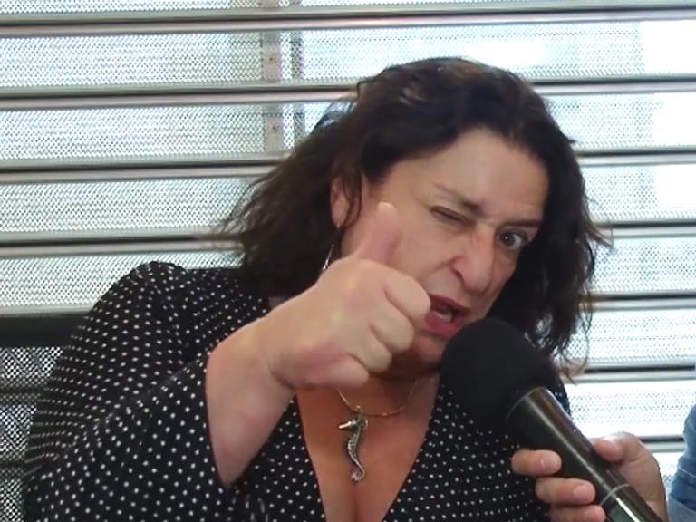 Grace Gianoukas diz que vamos todos para o inferno: 'A gente se encontra lá'