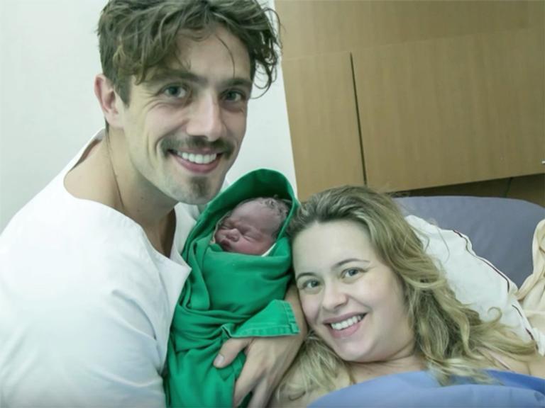 Rafael Cardoso, Valentim e Mariana Bridi
