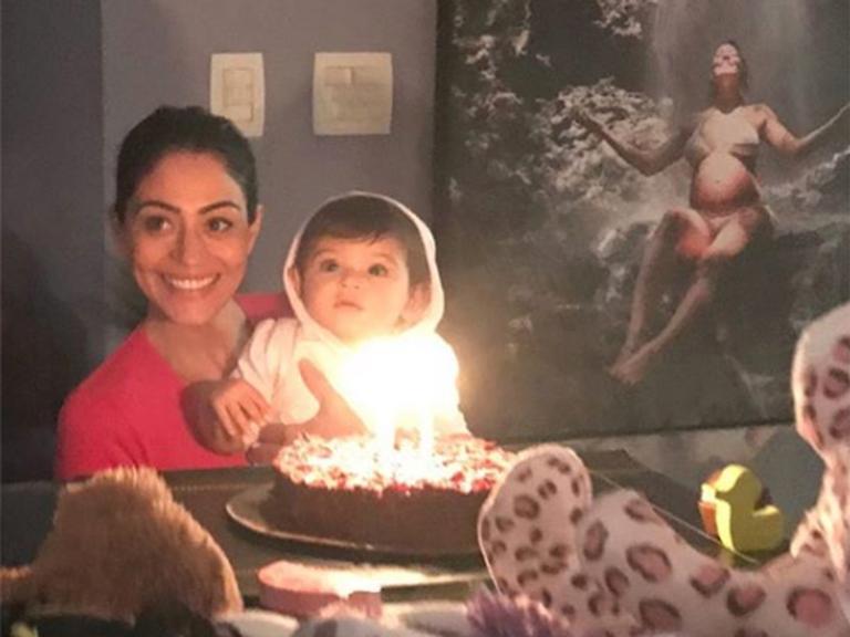 Carol Castro e a filha, Nina